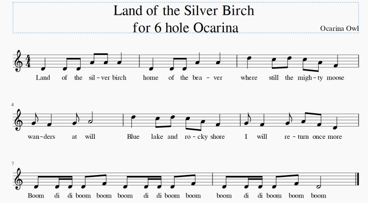 Land of the Silver Birch Ocarina