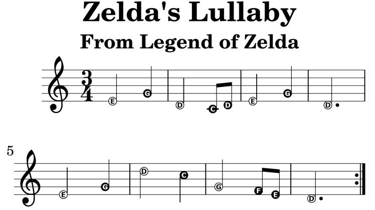 Zelda's Lullaby Part 1